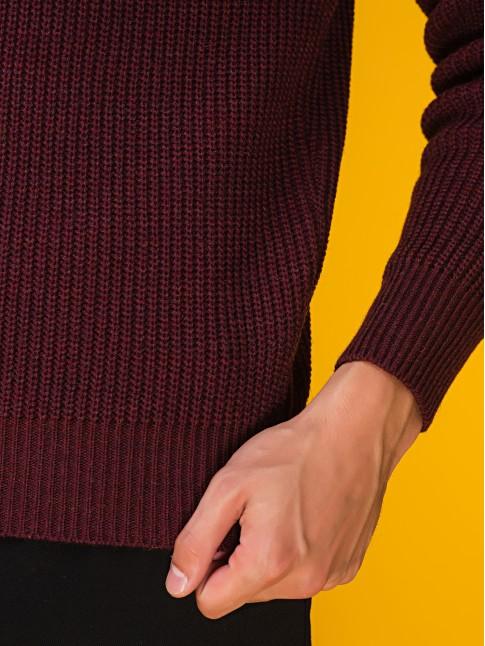 """Мужской свитер """"Классический"""" бордовый"""