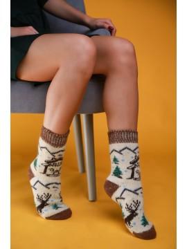 "Женские носки ""Белые с ёлками"""