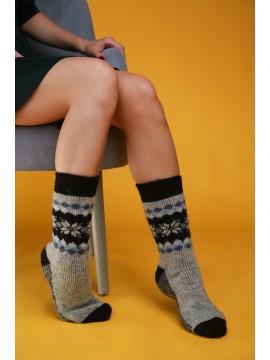 """Мужские носки """"Серые с черными узорами"""""""
