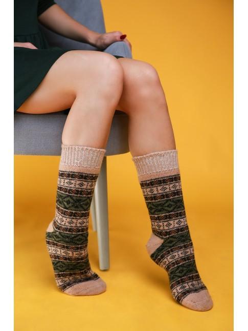 "Мужские носки ""Зеленые с узорами"""
